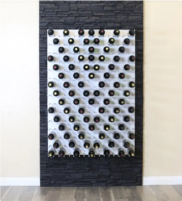Fusion Wine Wall Panel (Label Forward) - White Acrylic (6 Bottles)