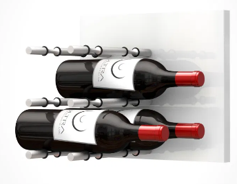 Fusion Wine Wall Panel (Label Forward) - White Acrylic (9 Bottles)