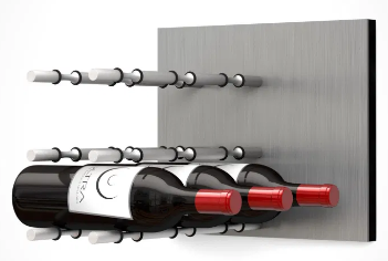 Fusion Wine Wall Panel (Label Forward) - Alumasteel (9 Bottles)