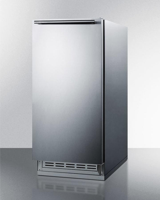 "Summit 15.18"" Stainless Steel Built In Luxury Ice Maker BIM25H34"