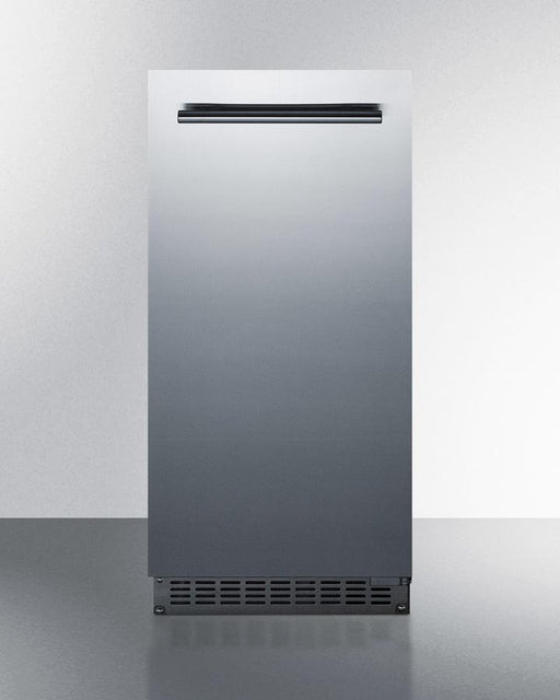 "Summit 14.88"" Indoor/Outdoor Stainless Steel Built In Ice Maker BIM68OSPUMP"
