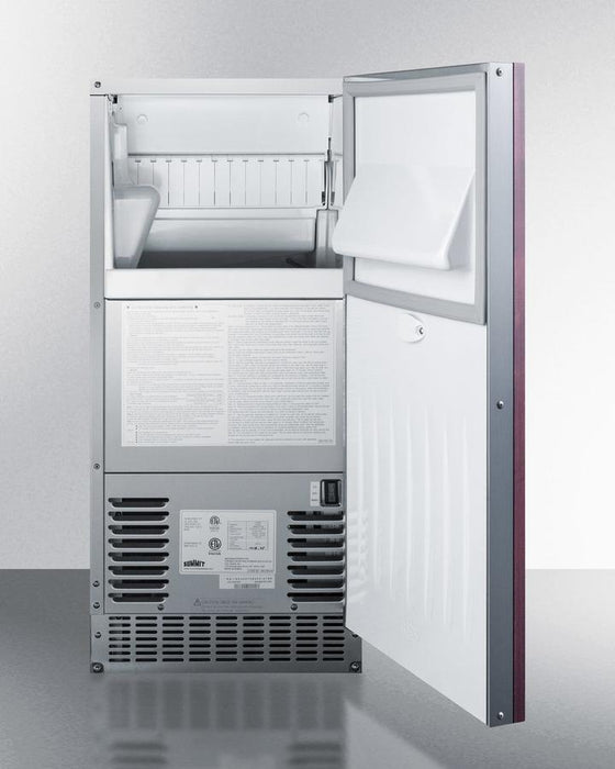 "Summit 14.88"" Slim Fitting Built In Ice Maker BIM68OSGDRIF"