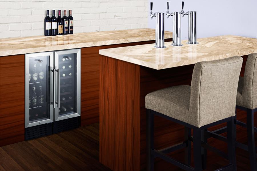 "Summit 12"" Built In Single Zone Wine Cooler SWC1224B"
