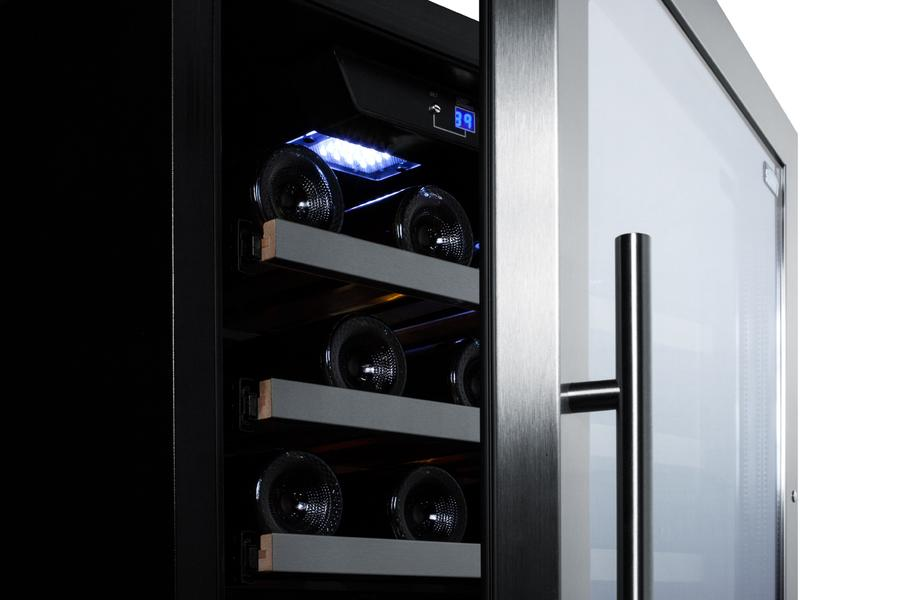 "Summit 24"" Built In Dual Zone 122 Bottle Wine Cooler SWC1380D"