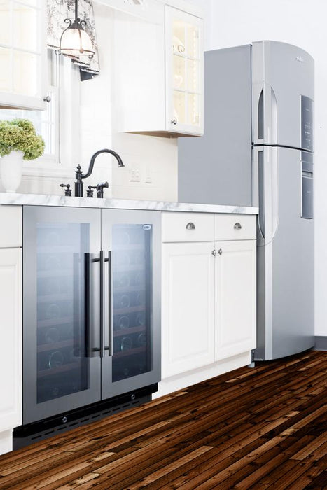Summit Side by Side Built In Stainless Steel Wine Cooler SWC3066B