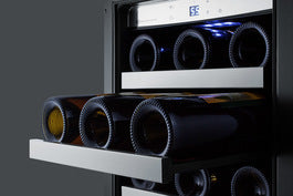"Summit 15"" Wide Built-In Wine/Beverage Center (Black Cabinet)"