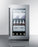 "Summit 18"" Wide Built-In Beverage Center (Stainless Door with Black Cabinet)"