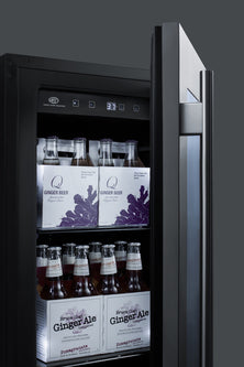 "Summit 18"" Wide Built-In Beverage Center(Stainless Cabinet)"