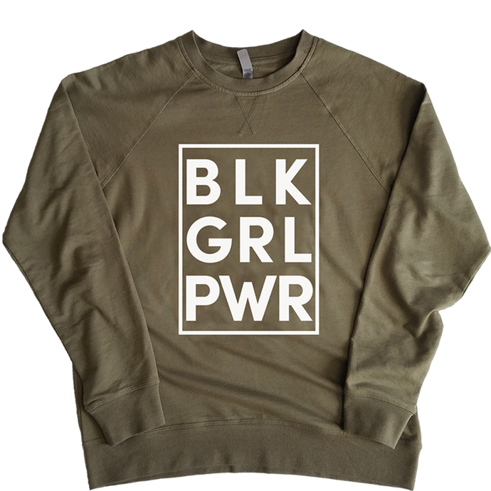 Black Girl Power French Terry - Stoop & Stank Tees