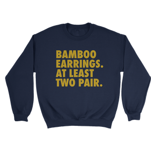 Bamboo Earrings Sweatshirt