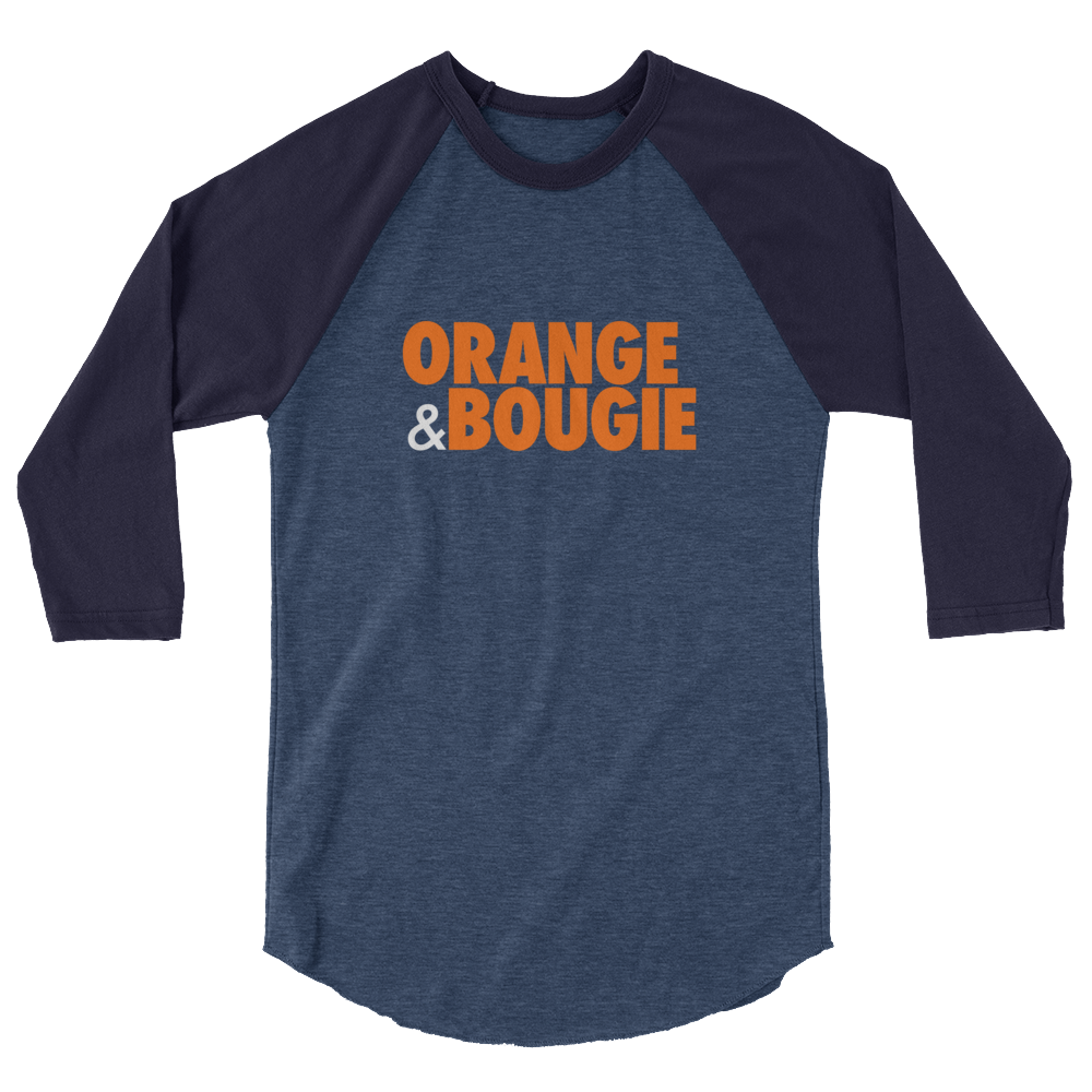 Orange & Bougie Raglan - Stoop & Stank Tees