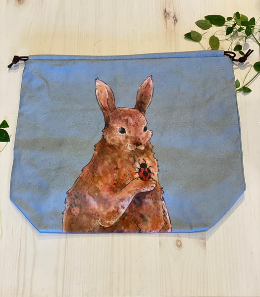 Blue Rabbit House Sweater Size Project Bag