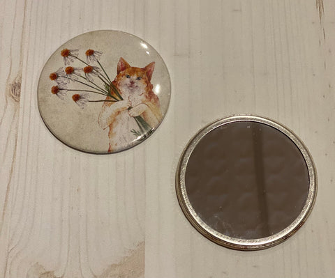 Blue Rabbit House Pocket Mirror