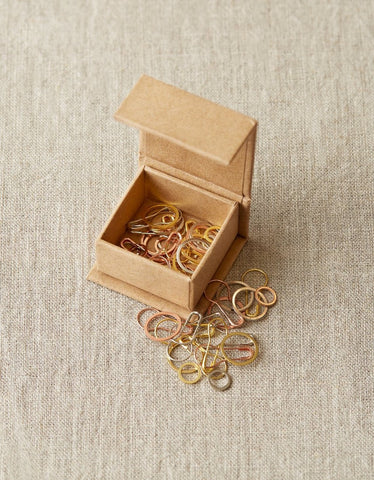 Cocoknits Precious Metal Stitch Markers Bundle of 10