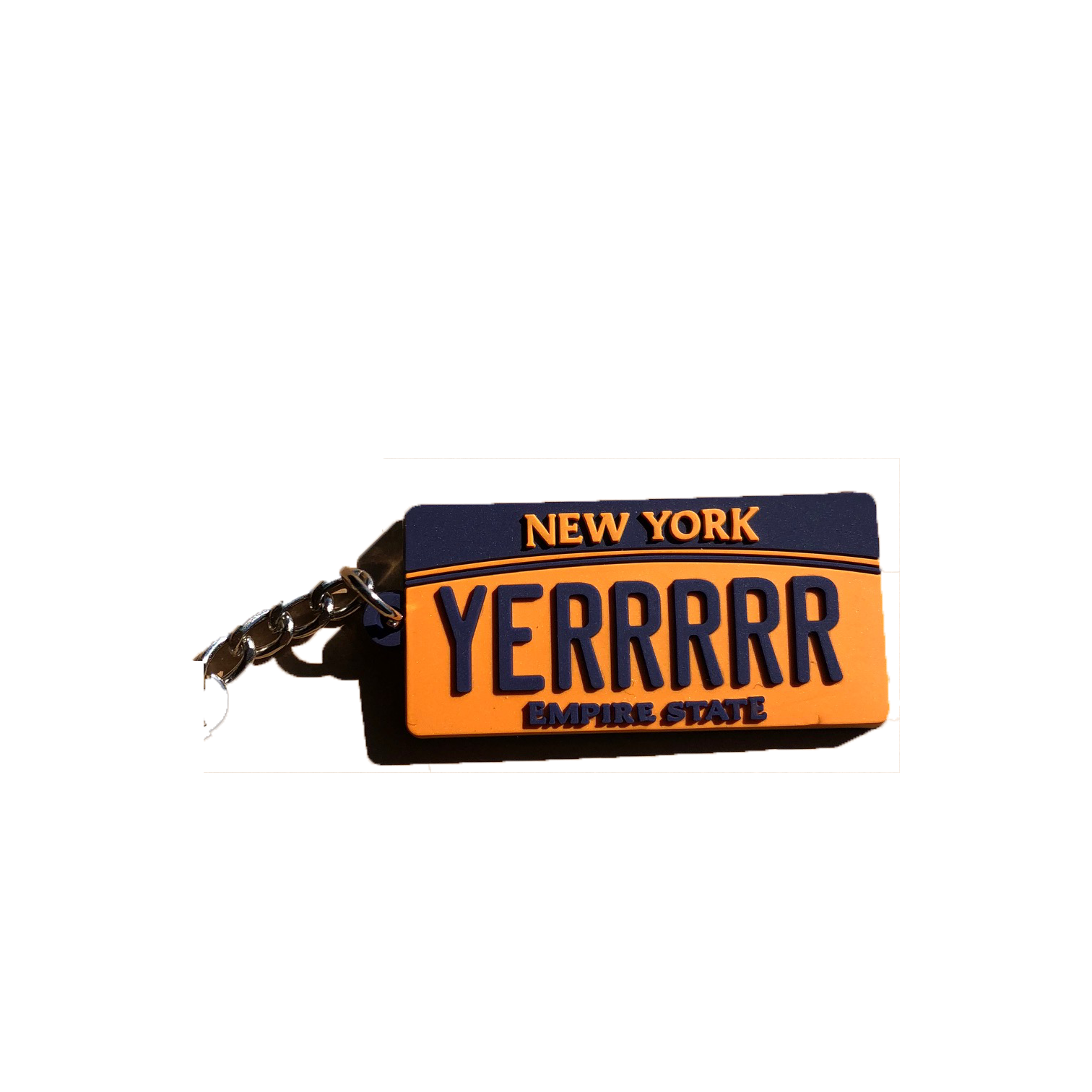 NYC Plate Keychain (Yellow)