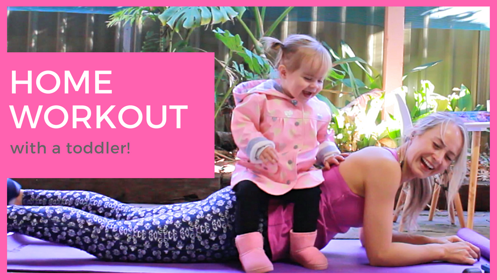 Home workout with my toddler!