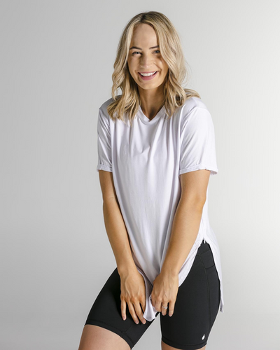 Tall Tees - Relaxed/longline (White)