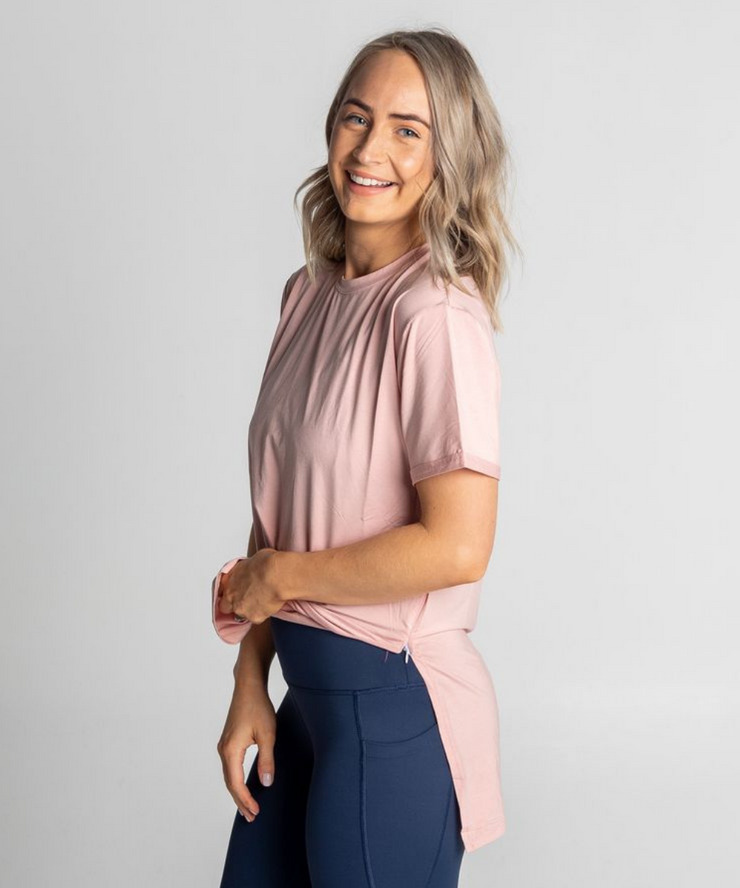 Tall Tees - Relaxed/longline (Dusty Pink)