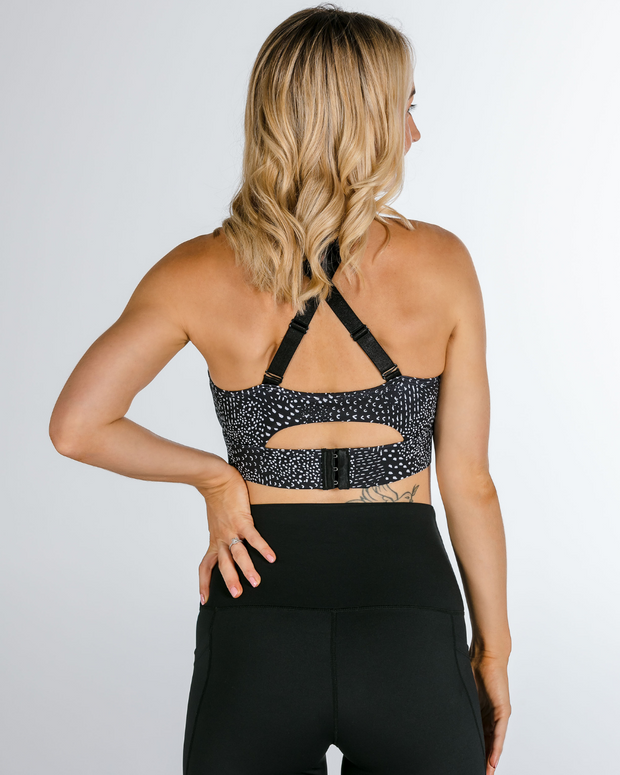 "The ""Luna"" Black Speckle Crop"