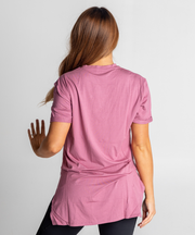 Tall Tees - Relaxed/longline (Boysenberry)