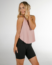 Cropped Workout Tank (Dusty Pink)