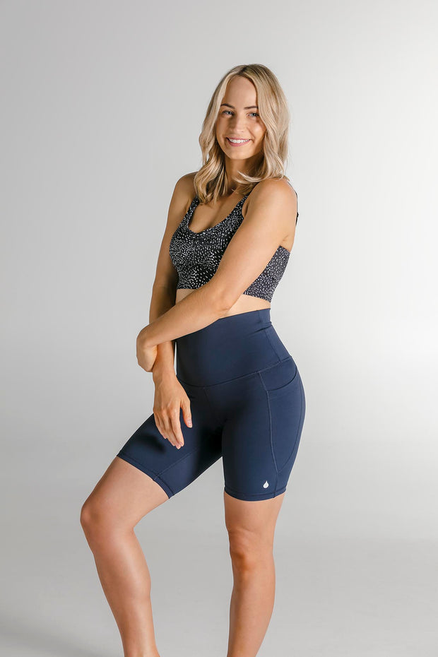 "The ""Movement"" Bike Shorts (Navy)"