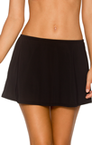 Black B36 Contemporary Swim Skirt