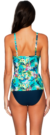 English Garden Sunsets 77t Underwire Over the Shoulder Strap Swim Tankini