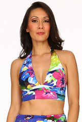Kailua Blue Retro Halter Neck