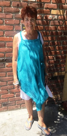 A Teal Sea Foam Surf Dress