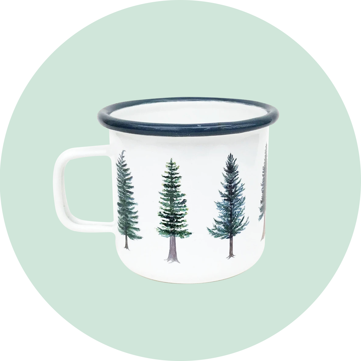 Yardia Evergreens Camp Mug