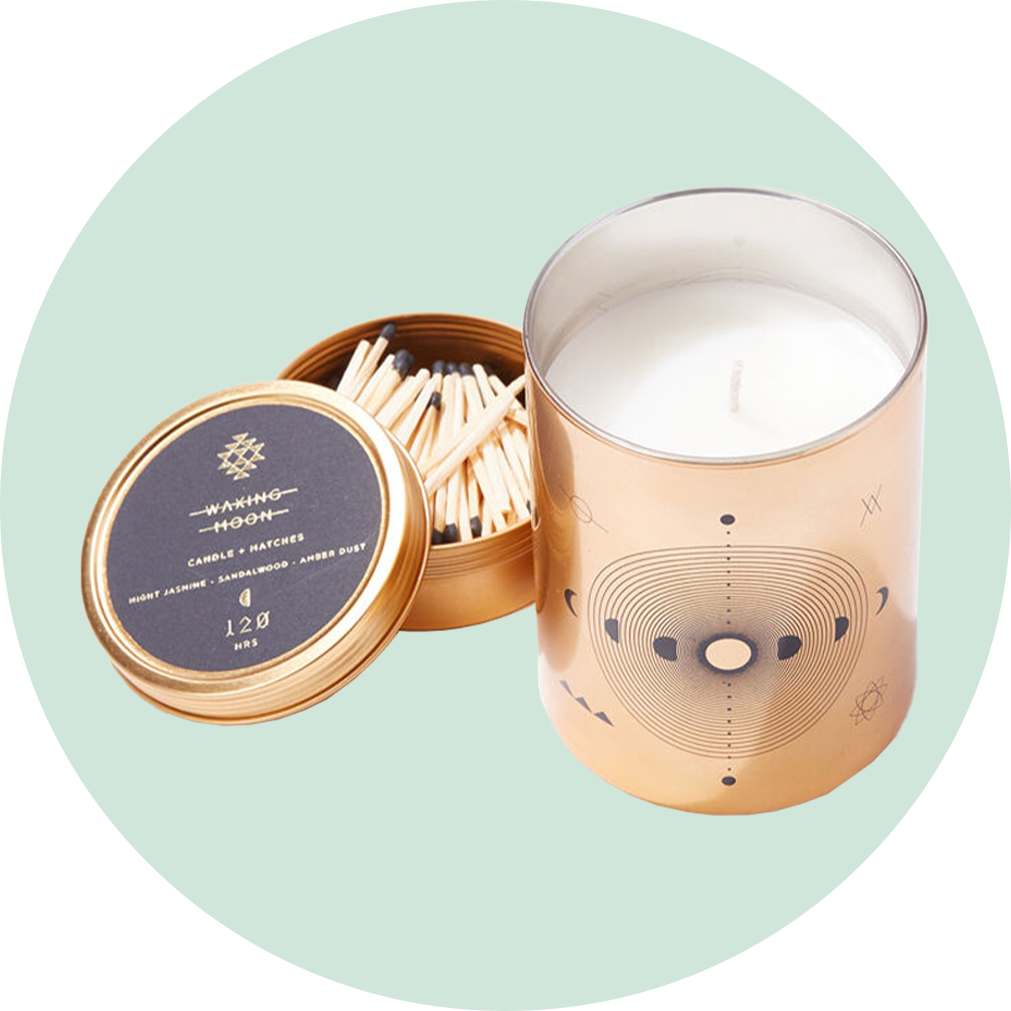 Skeem Designs Totem Candle + Matches - Waxing Moon