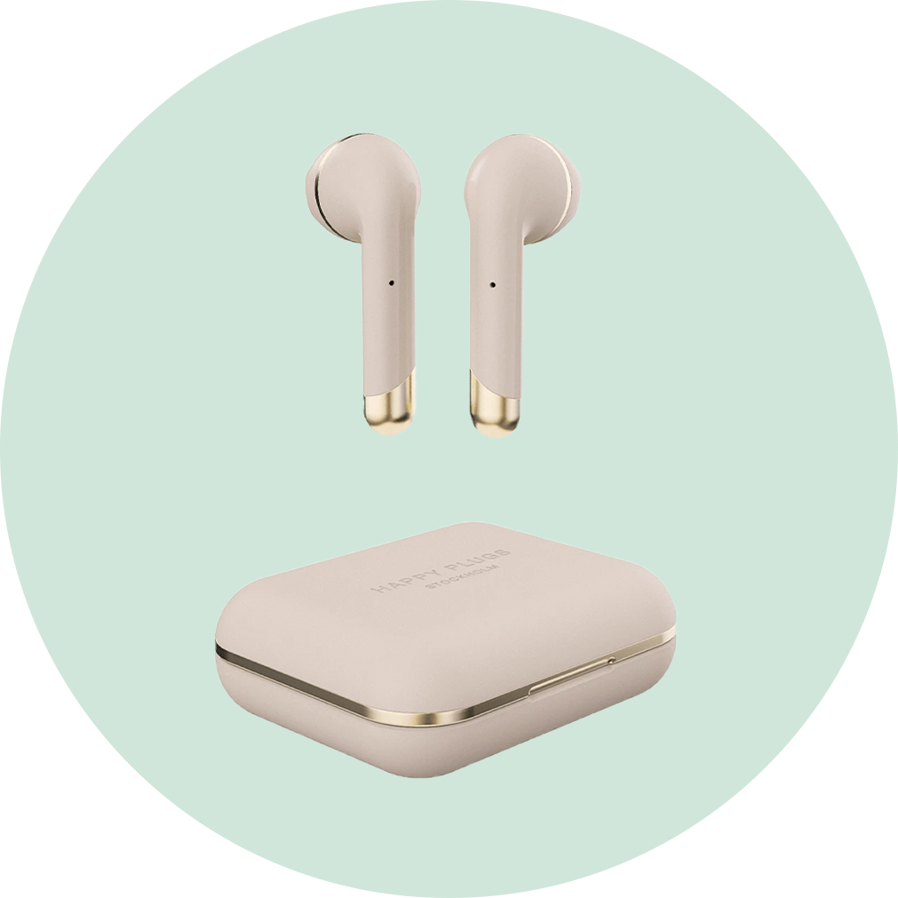 Happy Plugs Air 1 True Wireless Headphones - Gold