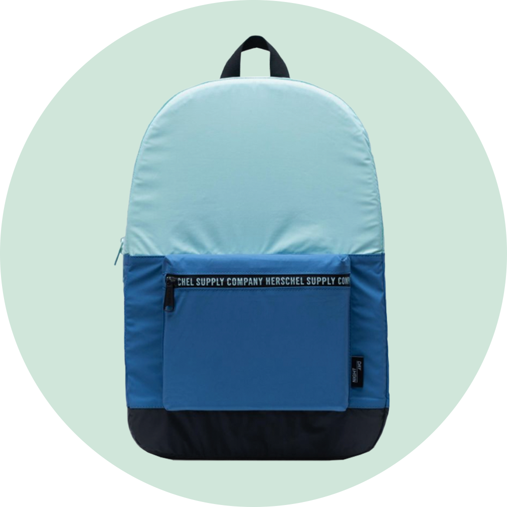 Herschel Packable Daypack - Reflective Blue