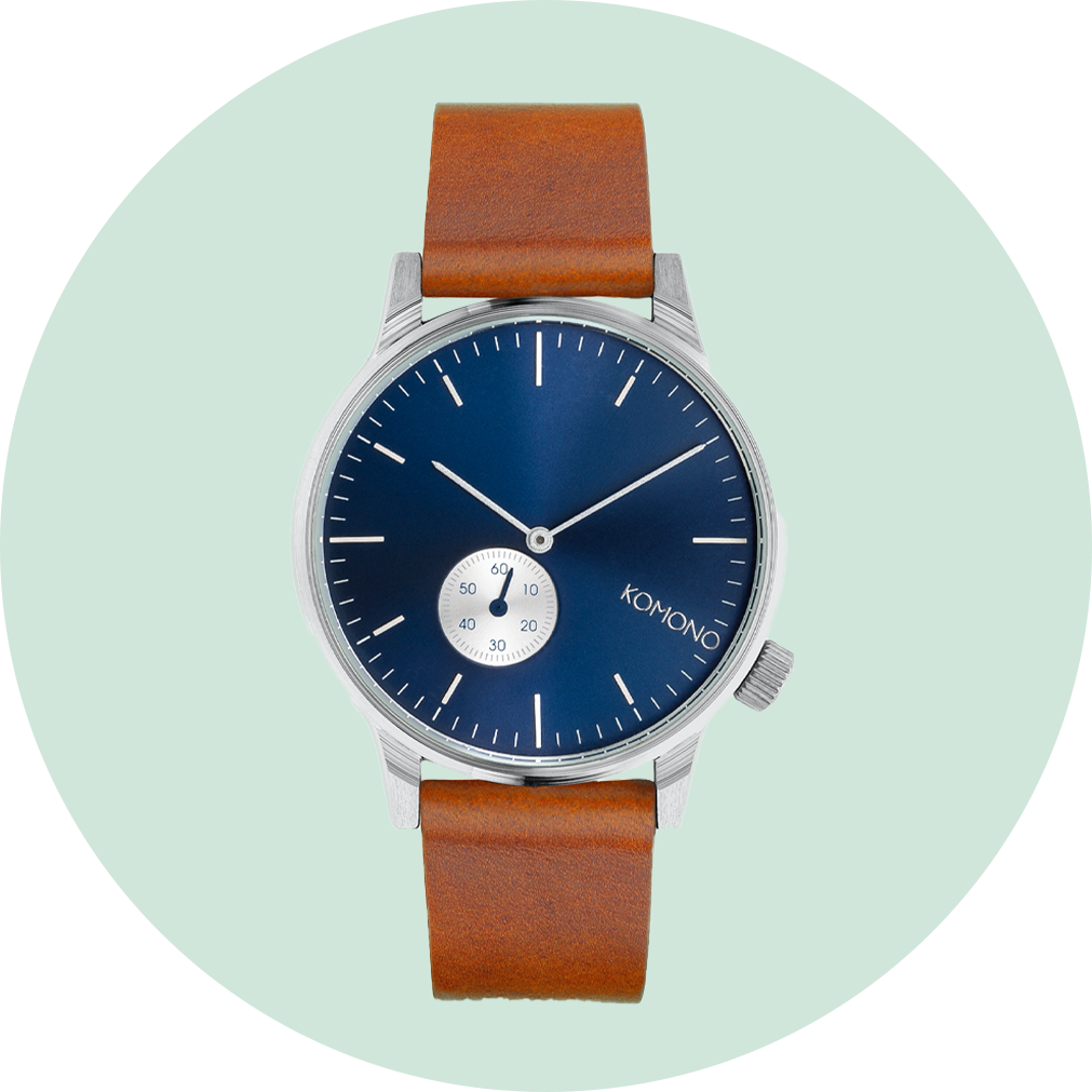 Komono Winston Subs Watch - Blue Cognac