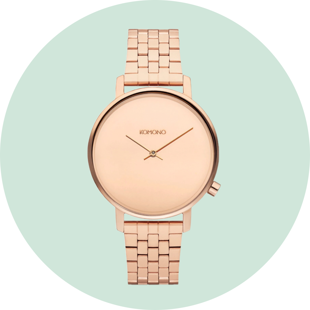 Komono Harlow Estate Watch - Rose Gold