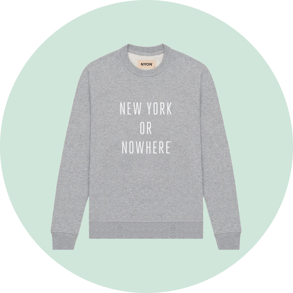 Knowlita New York or Nowhere Classic Crewneck - Grey