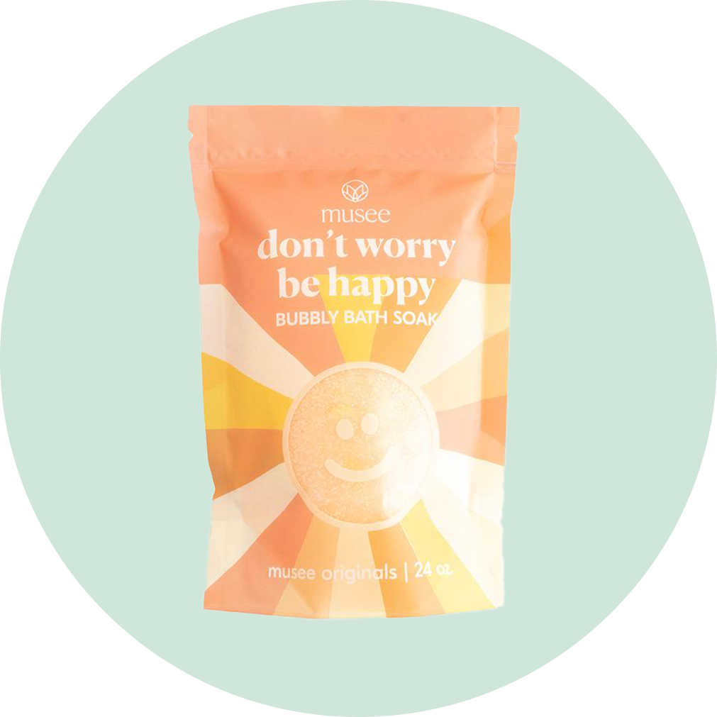 Musee Don't Worry, Be Happy Bubbly Bath Soak