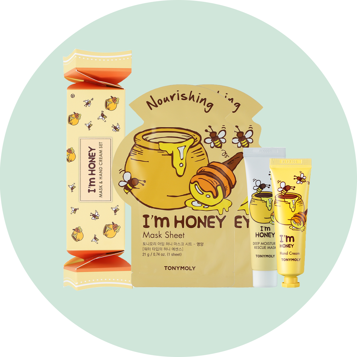 Tony Moly Mask & Hand Cream Cracker Box