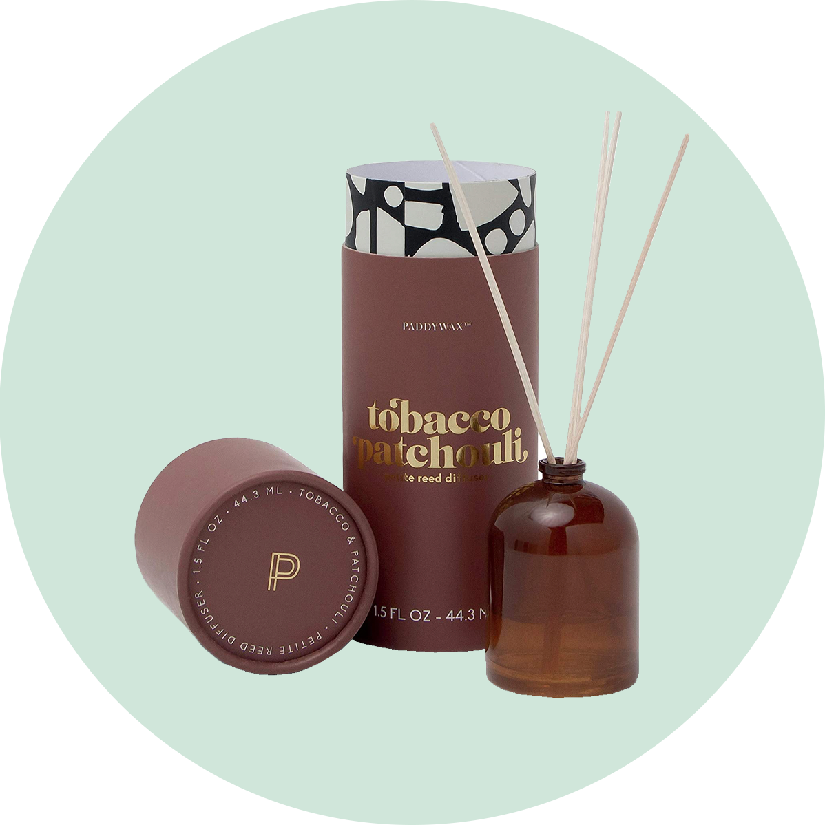 Paddywax Mini Reed Diffuser Tobacco & Patchouli