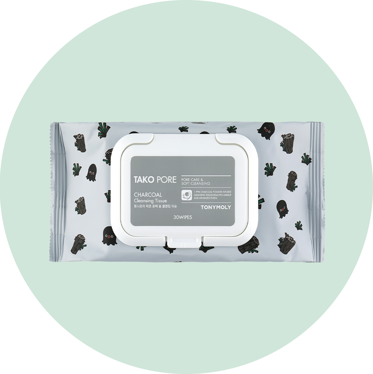 Tony Moly Tako Pore Charcoal Cleansing Tissue