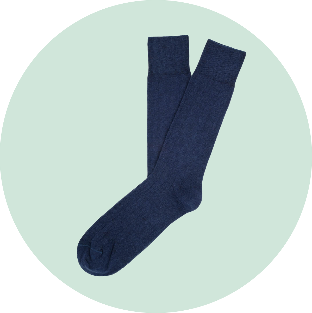 Etiquette Basic Luxuries Men's Socks Navy