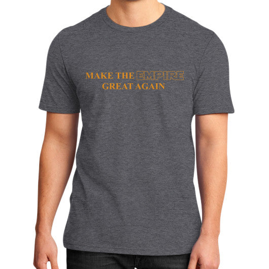 Make the Empire Great Again District T-Shirt (on man) Heather charcoal T and Biscuits