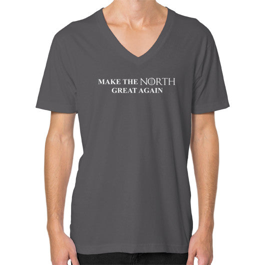 Make the North Great Again V-Neck (on man) Asphalt T and Biscuits