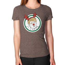 Trump Reindeer Women's T-Shirt Tri-Blend Coffee T and Biscuits