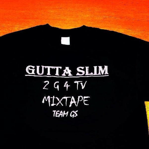 Short Sleeve T-Shirt Gutta Slim 2G4tv Mixtape (Black)