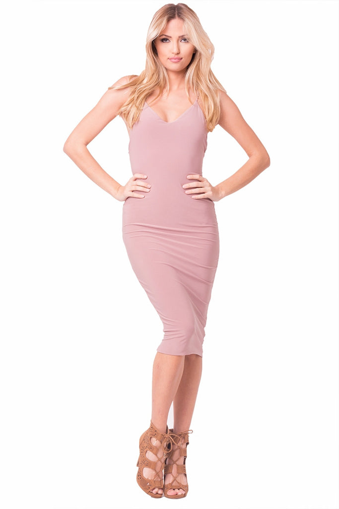 Mauve Flawless Midi Dress Front