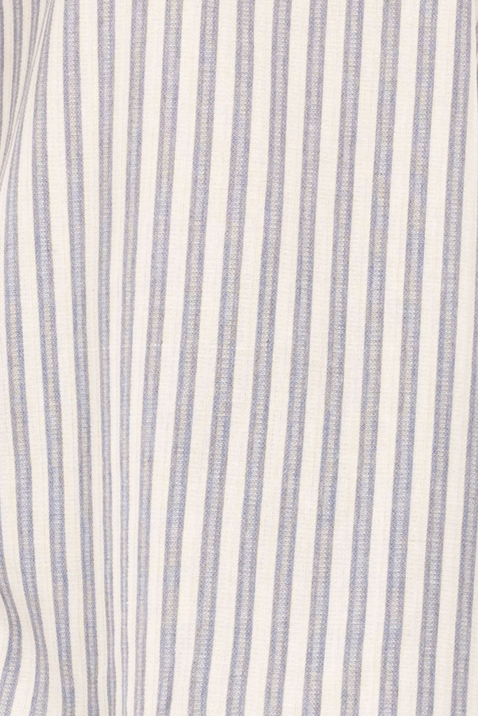 One Shoulder Striped Bell Sleeve Tunic Close Up
