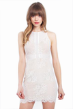 SWEETHEART WHITE LACE BODYCON DRESS
