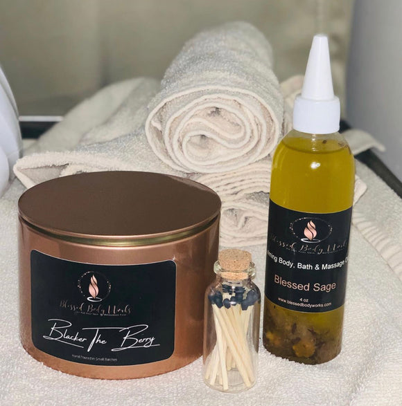 14oz Candle & Body Oil Combo